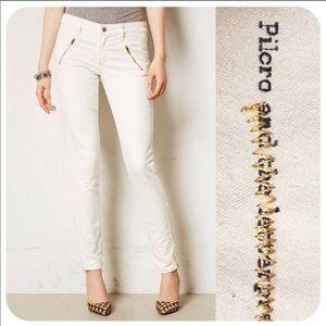 Pilcro serif two toned Moto jeans Anthropologie